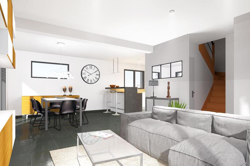 Construire une maison moderne maisons clefs d 39 or for Maison moderne 60m2