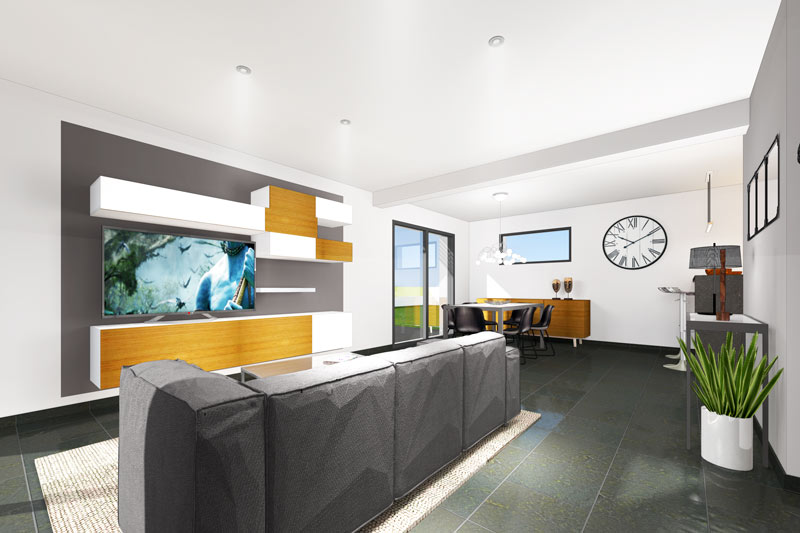 Construire une maison moderne maisons clefs d 39 or for Maison bois moderne 60m2