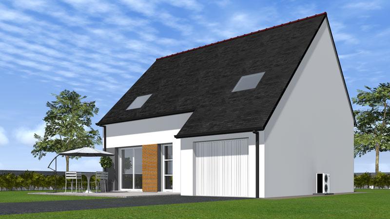 Maison traditionnelle rt2012 optimo maisons clefs d 39 or - Construire une maison jumelee ...