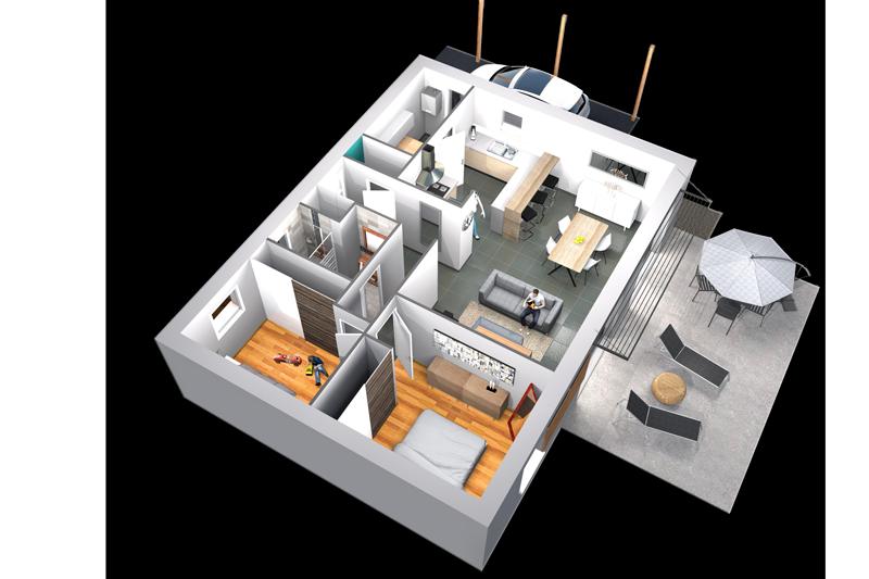 Construire une maison plain pied maisons clefs d 39 or for Construire sa maison plain pied