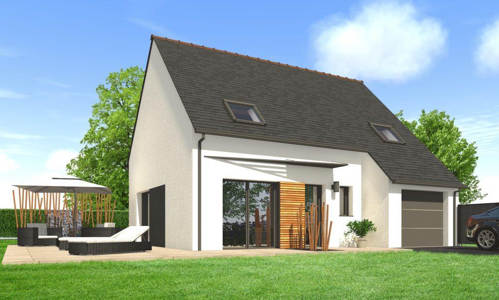 maison moderne toit ardoise
