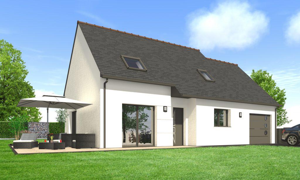 Construire une maison contemporaine tage maisons for Forme de toiture maison