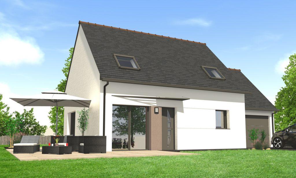 Construire une maison contemporaine à étage | Maisons Clefs d\'Or