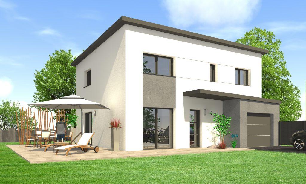 Construire une maison moderne maisons clefs d 39 or for Garage maison