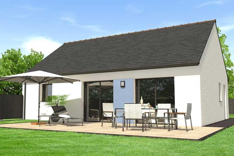construire une maison de plain pied maisons clefs d 39 or constructeur bretagne. Black Bedroom Furniture Sets. Home Design Ideas